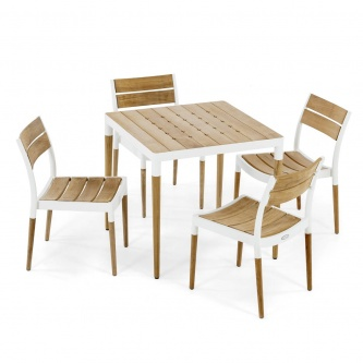 Bloom 5 pc Wood Top Dining Set