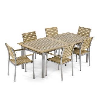 7pc Vogue Dining Set w/ All Armchairs