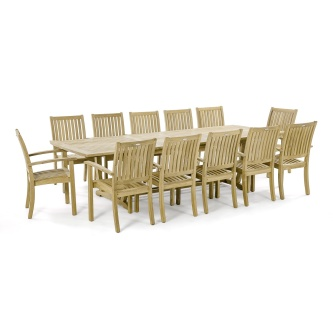 13 pc Sussex Teak Dining Set