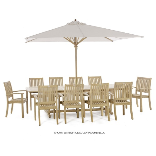 11 pc Veranda Sussex Teak Dining Set - Picture L