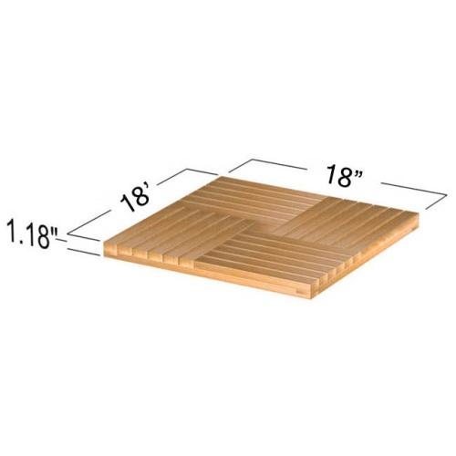 50 Cartons Parquet Teak Floor Tiles - Picture G