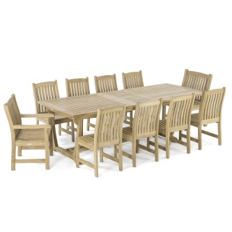 Veranda 11 pc Teak Dining Set