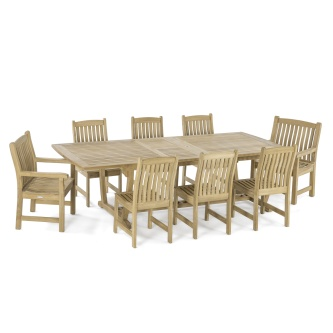 Veranda 9 pc Teak Dining Set