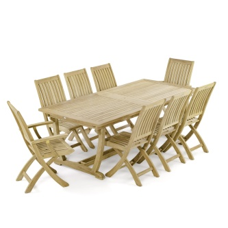 9 pc Veranda Barbuda Teak Dining Set