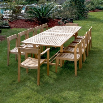 13 pc Horizon Teak Dining Set