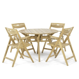 Surf 5 pc Deluxe Folding Teak Dining Set