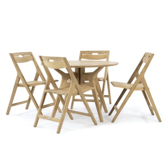 Surf Folding Teak Dining Set for 4