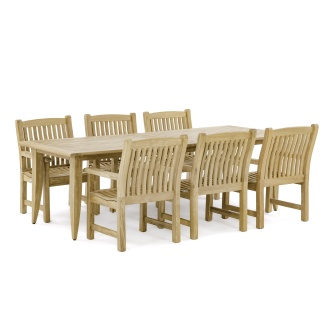 Laguna Veranda 7 pc Teak Dining Set
