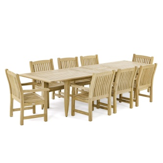 Grand Laguna Veranda 9 pc Teak Dining Set