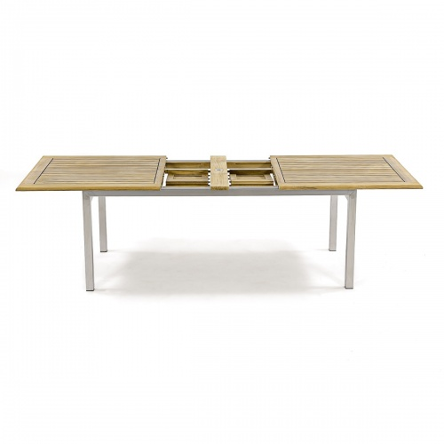 13 pc Grand Bloom Teak & Stainless Steel Set - Picture C