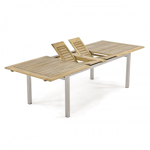 13 pc Grand Bloom Teak & Stainless Steel Set - Picture D