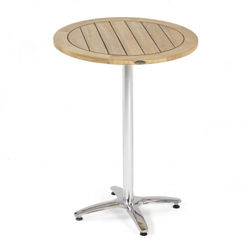 24 in Round Teak Table Top and Base - Picture A
