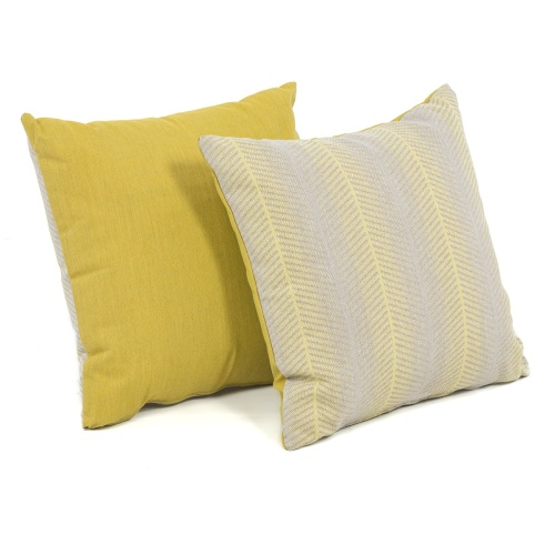 Throw Pillow (18 x 18) - Sunbrella PURE Fabric - Picture A