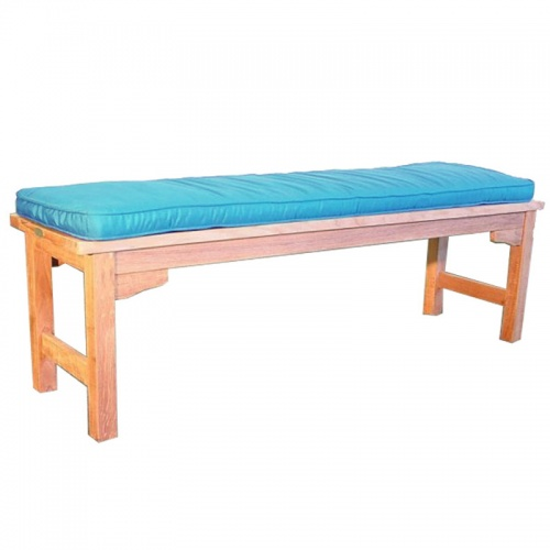 Stone Green 5 ft Backless Bench Cushion - Picture A