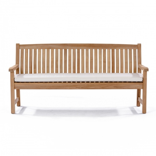 teak 6 ft bench cushions