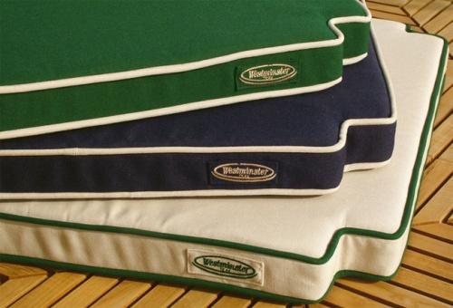 teak steamer cushions
