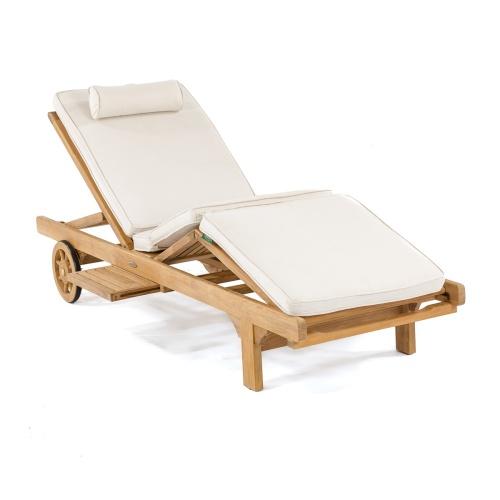 teak chaise lounger cushions