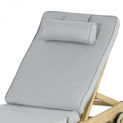 71101NGC-OLD Natte Grey Chine Sunbrella Lounger Cushion - Picture C