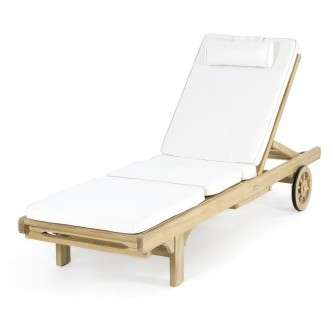 Sunbrella Lounger Cushion (CC) - Natte White