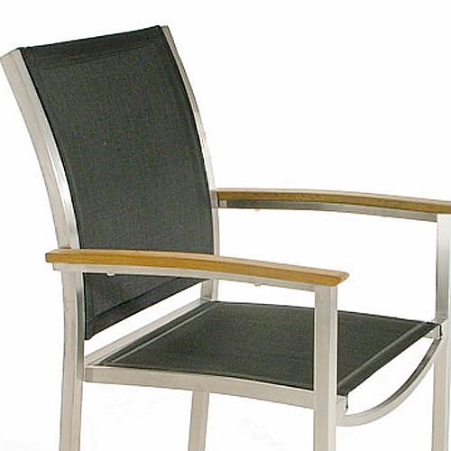 22010 Textilene Gemini Chair Fabric - Black - Picture A