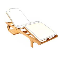 Sunbrella Chaise Lounger Cushion - Picture A