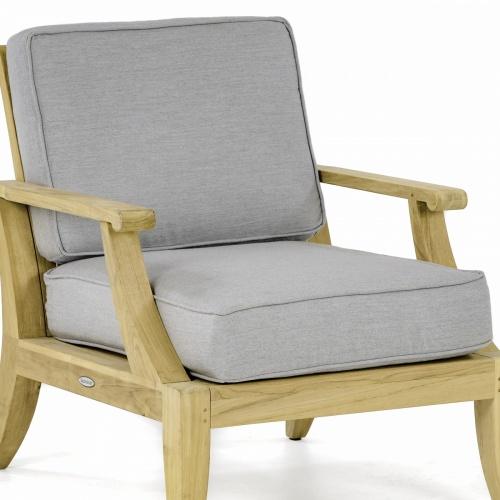 Laguna Lounge Chair Cushion Natte Grey Chine - Picture A