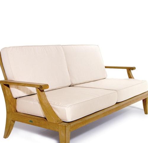 Laguna Teak Sofa Cushions - Picture A