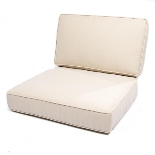 Laguna Teak Sofa Cushions - Natte White - Picture B