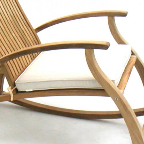 teak rocking chair cushions