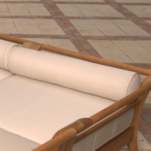 Aman Dais Corner Bolster Pillow 31 in Natte White - Picture A