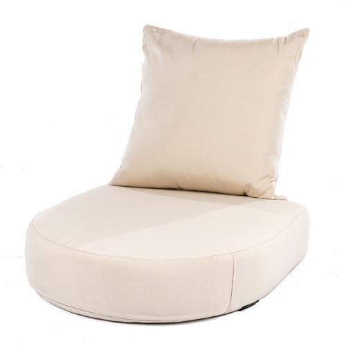 Kafelonia Club Chair Cushion - Natte Sooty - Picture A