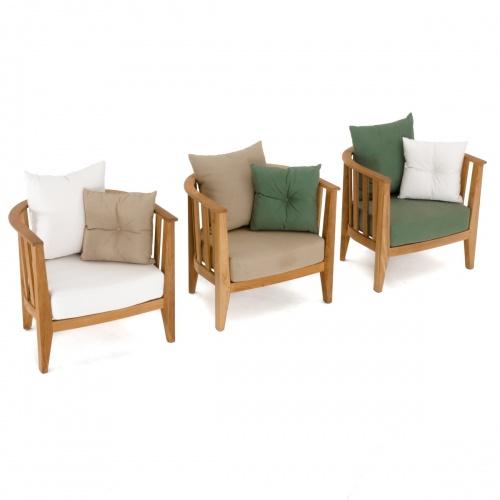 Kafelonia Club Chair Cushion - Natte Sooty - Picture C