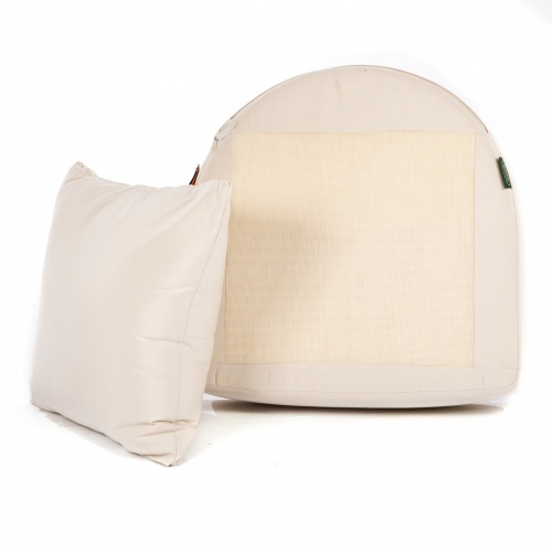 Kafelonia Club Chair Cushion - Natte White - Picture B