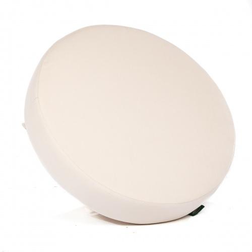 Kafelonia Ottoman Cushion - Natte White - Picture B