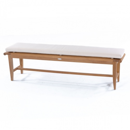 backless teak bench cushions