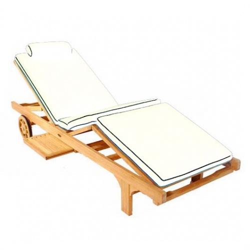 glentuff teak chaise lounger cushions