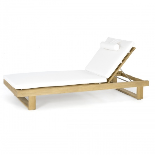 Horizon Teak Lounger Cushion - Natte White - Picture B