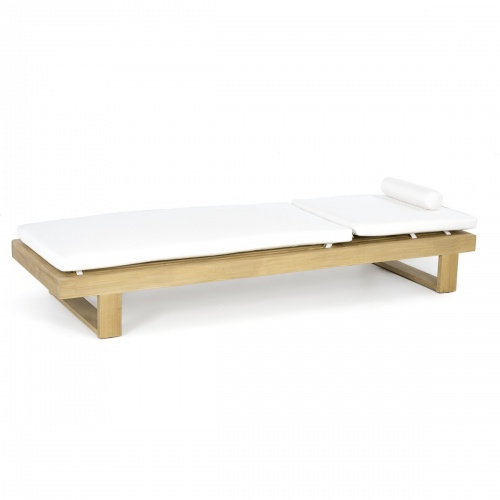 Horizon Teak Lounger Cushion - Natte White - Picture C