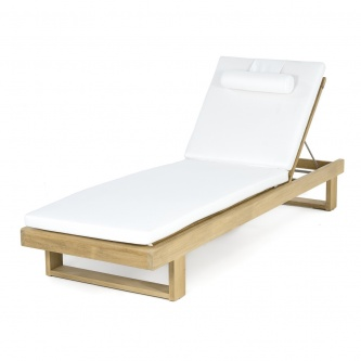 Horizon Teak Lounger Cushion (CC) - Natte White