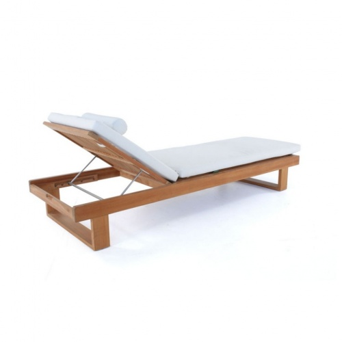 Horizon Custom Teak Lounger Cushion - Picture B