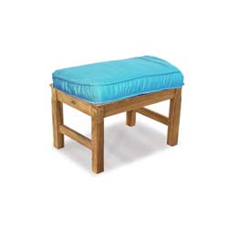 teak bench cushion sunbrella