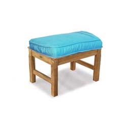 teak bench cushion sunbrella