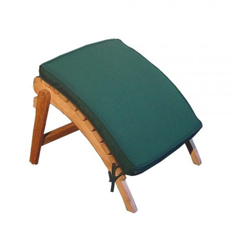 Adirondack Footstool Cushion Stone Green - Picture A