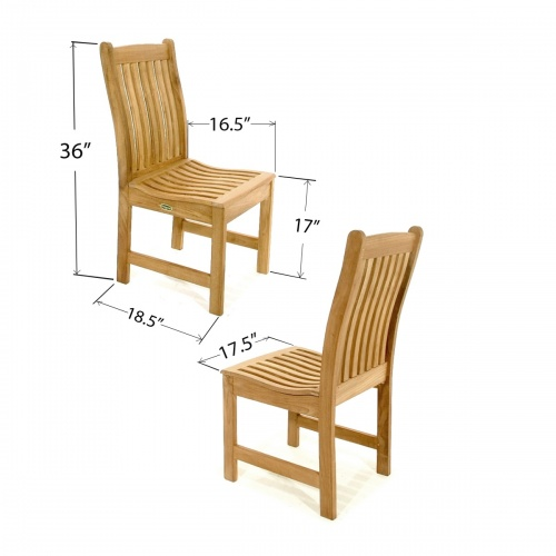 Veranda Teak Side Chair - Picture J