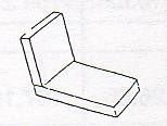 2-Pc Chaise Seat & Back Cushion - Picture B