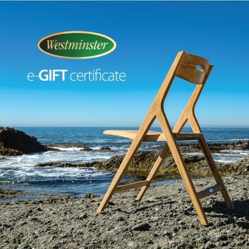 westminster teak gift certificates