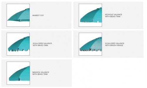 9ft Curved Aluminum Umbrella - Picture B