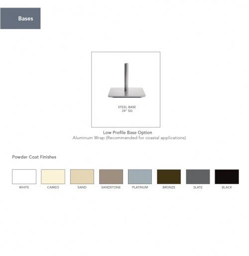 6ft Square Aluminum Umbrella - Picture L