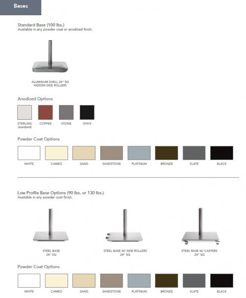 6ft Square Aluminum Umbrella - Picture M