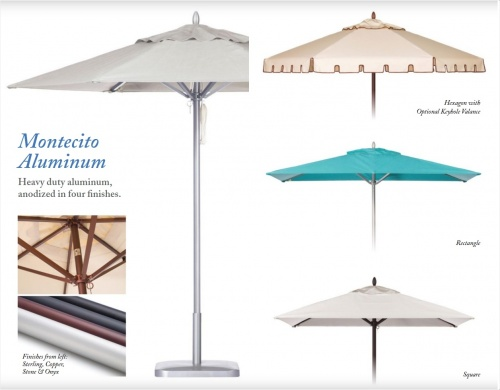 7ft Square Aluminum Umbrella - Picture B